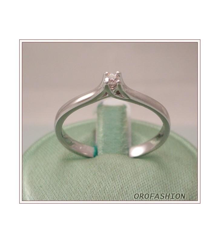 Anello oro e diamante solitario ct. 0.05 - 811127 - Valore 420