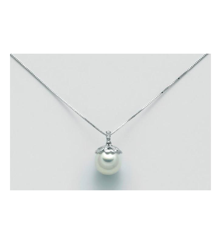 Anello oro bianco 18kt con rubino e diamanti - 1651511