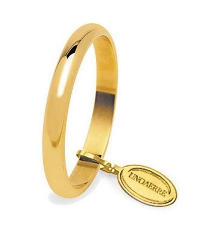 Fede UNOAERRE Fedi Classiche gr. 4 Francesina in oro giallo