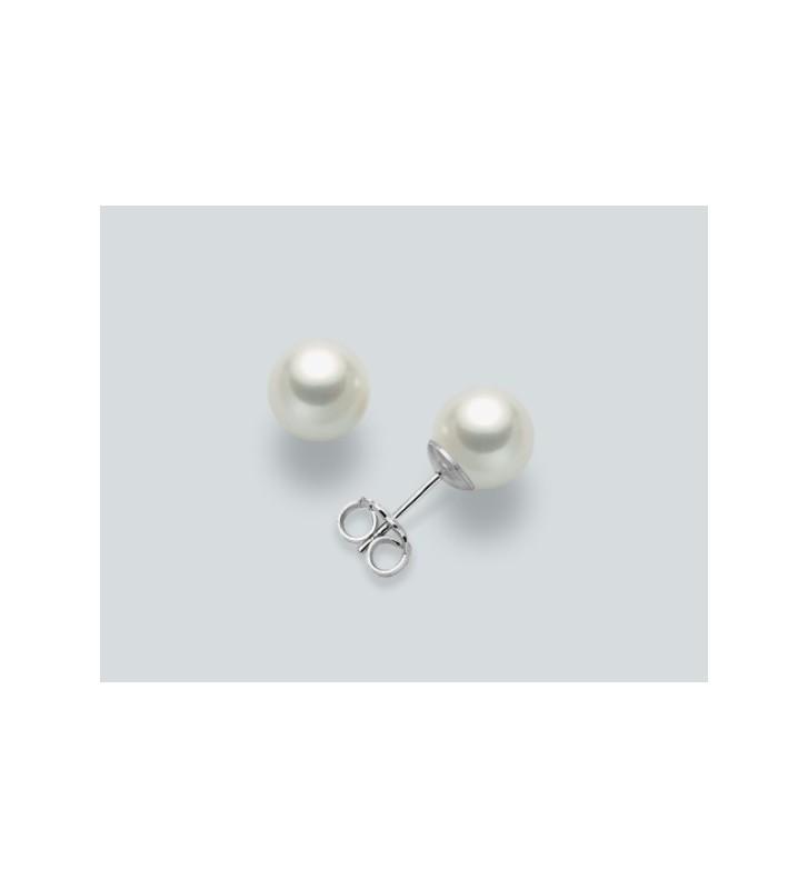 Orecchini MILUNA in oro bianco 9kt e perle PPN445BMX