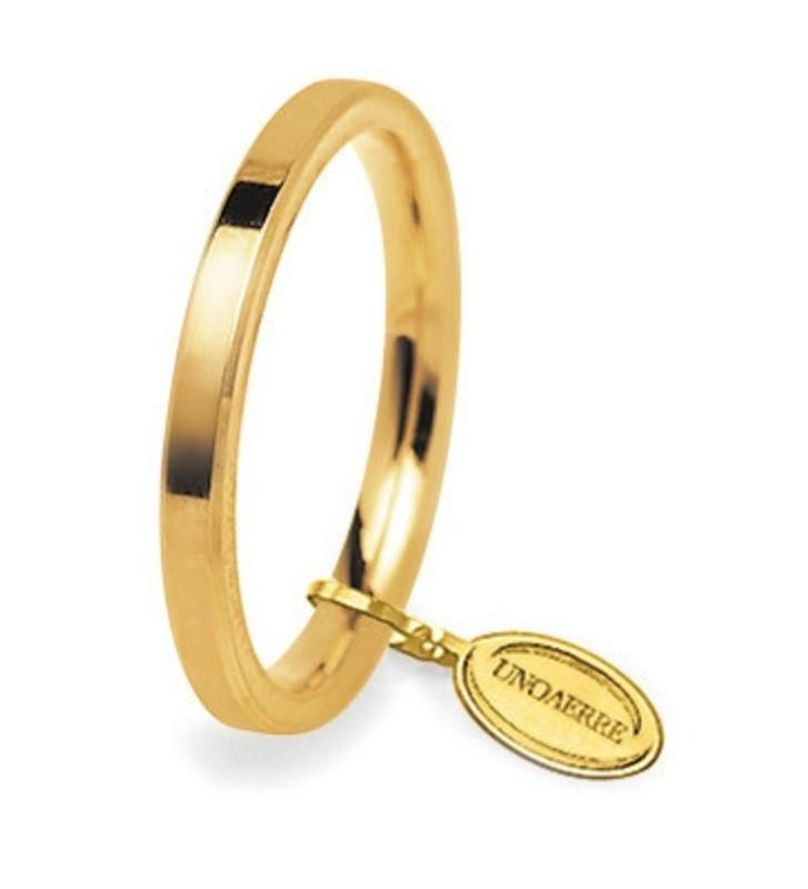 Fede UNOAERRE Fedi Cerchi di Luce 2,5 mm in oro giallo