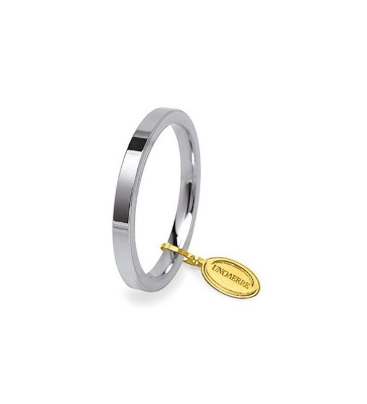 Fede UNOAERRE Fedi Cerchi di Luce 2,5 mm in oro bianco