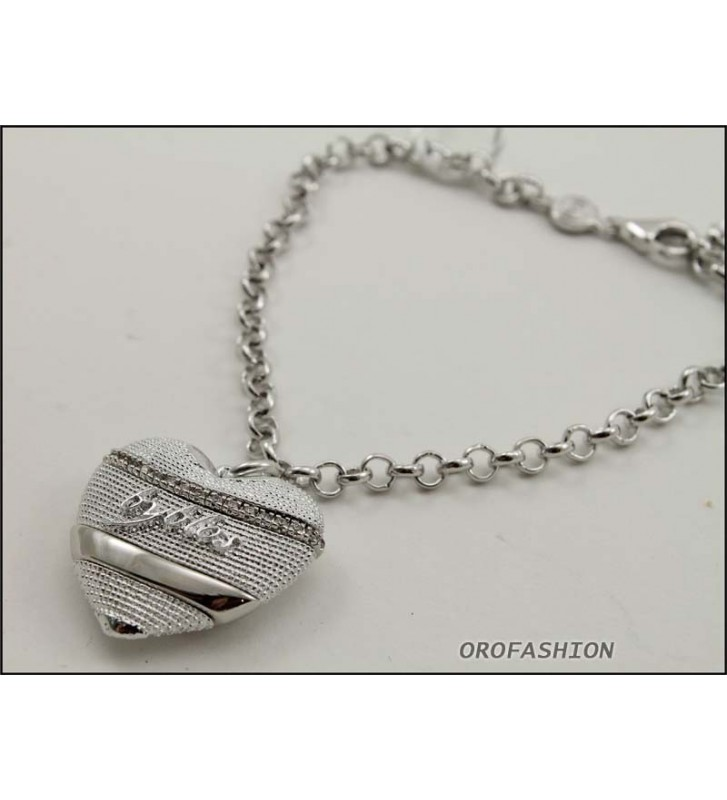 SALDI Bracciale BYBLOS cuore in metallo color silver - 9518