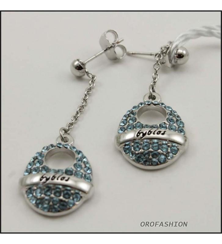 SALDI Orecchini BYBLOS - 90202-a - colore silver con cristalli Swarovski -