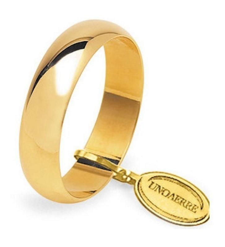 Fede UNOAERRE Fedi Classiche gr. 6 Mantovana in oro giallo