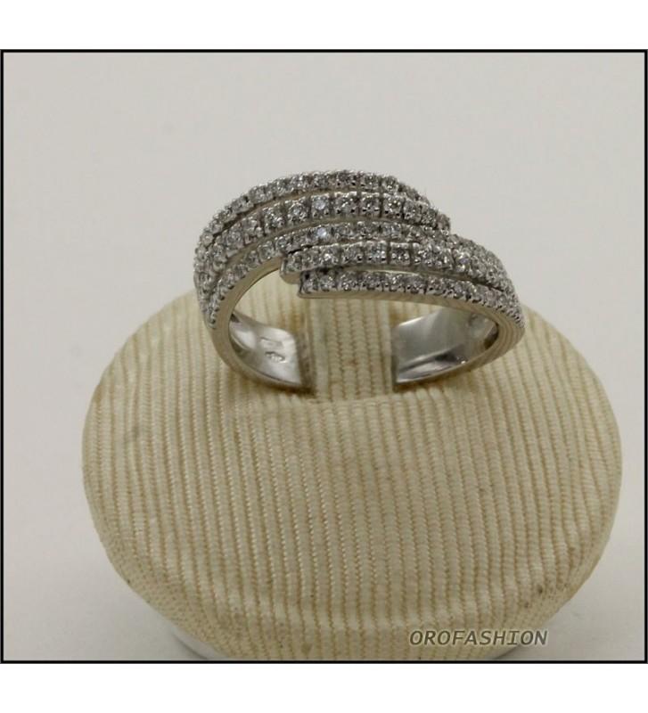 Anello oro bianco fantasia fascia di diamanti Valore 2550 - F1806142
