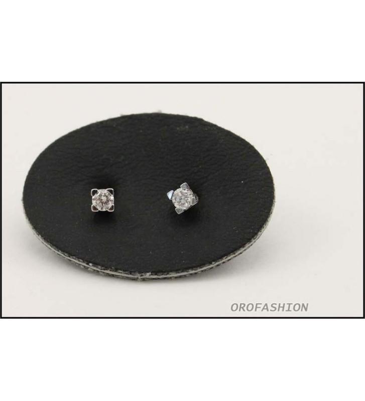 Orecchini oro bianco diamanti naturali ct. 0.12 - Valore 320 2081412