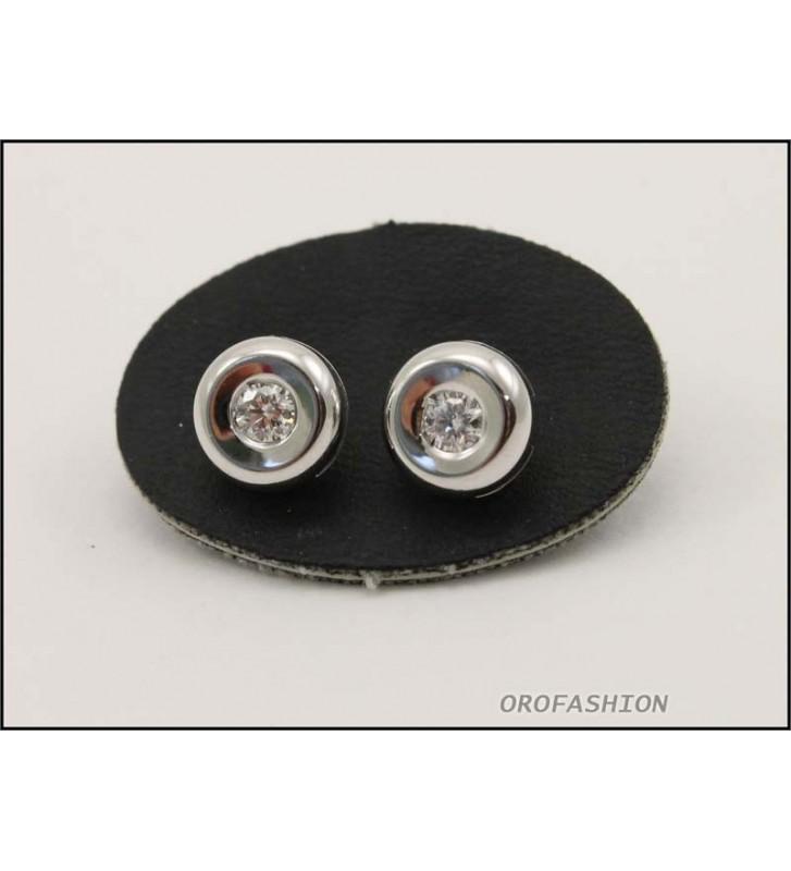 Orecchini oro bianco diamanti naturali ct. 0.22- Valore 650 2081422