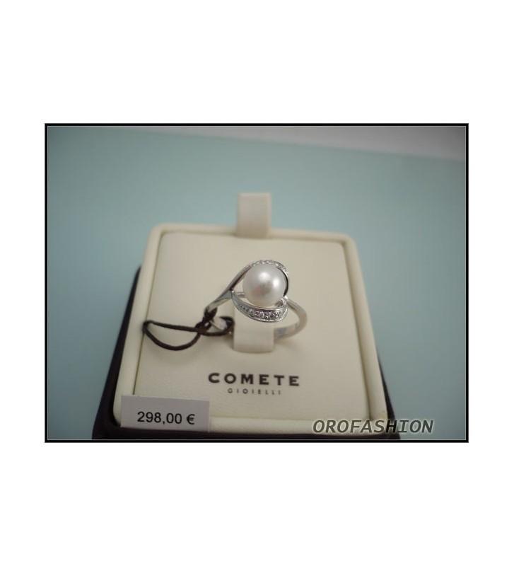 SALDI Anello COMETE GIOIELLI oro bianco perla diamanti ANP305