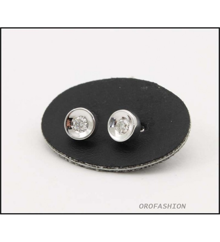 Orecchini oro bianco 18Kt diamanti naturali ct. 0.16 Valore 400 - 30091416