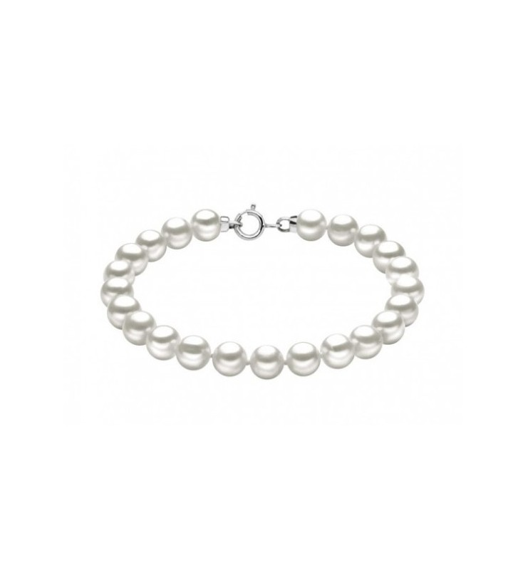Bracciale COMETE GIOIELLI di perle e oro bianco BRQ112AM
