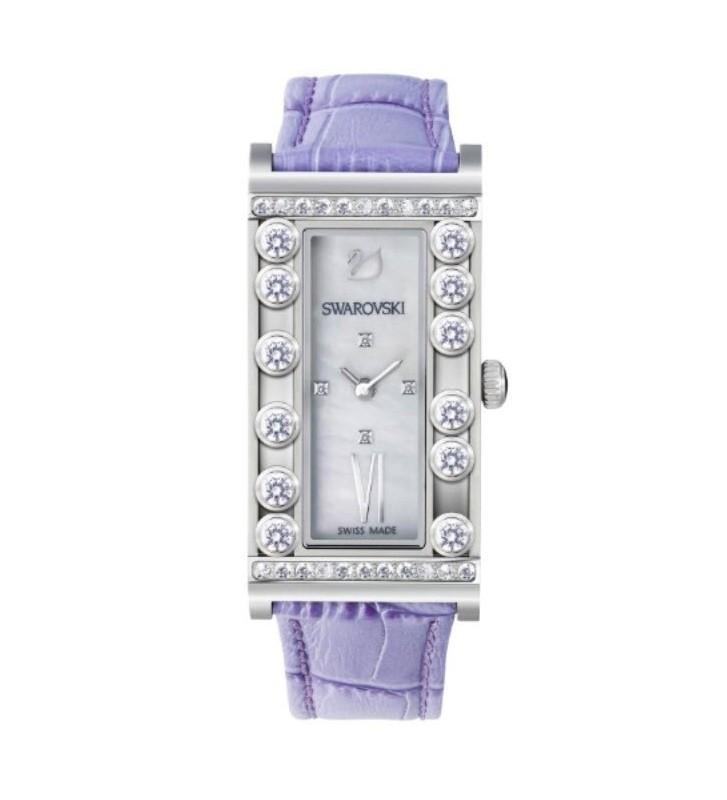 SALDI Orologio SWAROVSKI - Lovely Crystals Square Lilac - 5096684