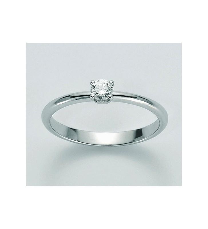 SALDI Anello MILUNA oro bianco diamante solitario LID2691-009SX